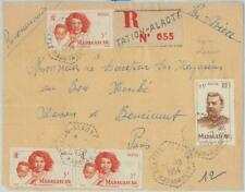 81183 - MADAGASCAR - POSTAL HISTORY - Train Ambulant POSTMARK on COVER front