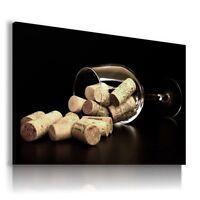 CORK GLASS WINE MODERN DESIGN CANVAS WALL ART PICTURE LARGE AB886 X MATAGA .