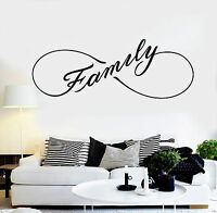 Vinyl Wall Decal Family Infinity Home Room Decor Stickers Mural (ig4640)