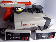 Nintendo NES Console System Bundle w/2 Controllers, Cables,  Gun. Refurbished