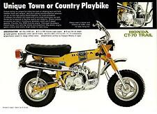 1972 HONDA CT70 K1 Trail 1 page Motorcycle Brochure NCS