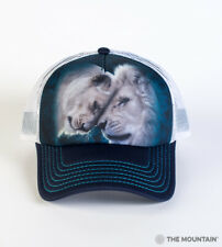 The Mountain White Lions Love Adult Graphic Foam Trucker Hat, Green, Adjustable