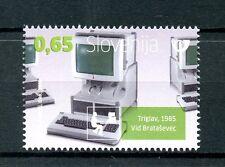 Slovenia 2016 MNH Iskra Delta Triglav Computers 1v Set IT Technology Stamps