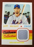 2020 Topps Heritage Clubhouse Collection Jersey Relic Card Mets Jeff McNeil