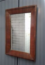MIRROR Antique Wall Mirror Empire Small 14.5 x 21 Figured Mahogany Frame
