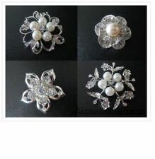 Unbranded Pearl Alloy Rhinestone Costume Brooches & Pins