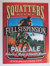 Beer STICKER ~*~ SQUATTERS Brewery Full Suspension Pale Ale ~ UTAH Mountain Bike