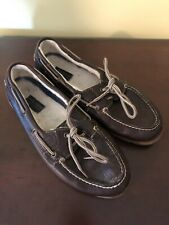 Sperry Topsider Wool Lined Leather Boat Shoes Size 9
