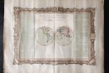 1761 - Mappemonde ancienne - DESNOS DE MORNAS - Carte du monde - old worldmap