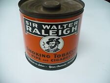 Vintage Sir Walter Raleigh Tobacco Tin Can