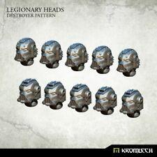SPACE MARINES Legionary heads destroyer pattern (10) NEW 40K Kromlech
