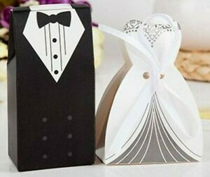 Bride & Groom Gift Boxes + White Ribbon - Buy Any 2+ Items Storewide - Save 10%