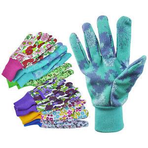 3 Pairs Women Garden Glove Ladies Gardening Gloves Floral Gardening Gloves