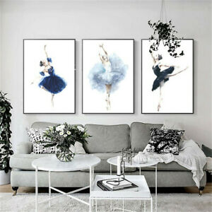 Modern Ballet Dance Girl Poster Canvas Wall Art Picture Prints Nordic Home Decor
