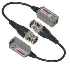 1 Pair(2pcs) Pigtail Mini Bnc Video Balun for Security Cctv Cameras via Cat5e