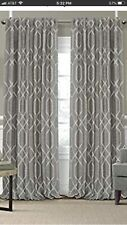 Elrene Blackout Rod Pocket Panel Curtains (2) 52 x 95 Gray NEW