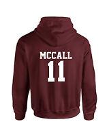 Maroon Scott McCall Inspired Wolf Adult Hoodie Teen