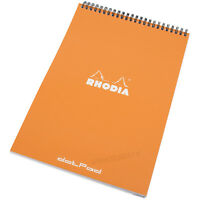 Rhodia A4 Spiral Orange dotPad Geometric Dot Grid Note Book Sketch Drawing Pad