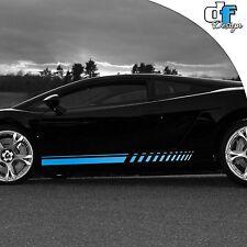 Auto Tuning Rennstreifen Racing Zierstreifen Streifen Design Tribal blau Rallye