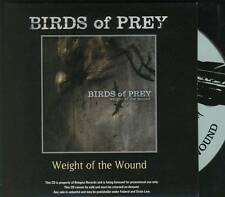 BIRDS OF PREY Weight Of The Wound METAL PROMO CD ALB Baroness Human Remains **