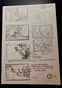 MIKE PLOOG (TWO) original storyboard YOUNG SHERLOCK HOLMES 1985 CONCEPT ART