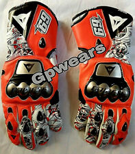 Nicky Hayden 69 D1 Motogp Motorbike Racing Leather Gloves All Size Available