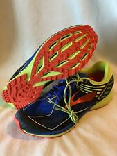 Brooks Men's Mazama Trail Running Shoes Blue/Lime/Red Size 8.0M NWT $140