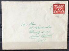 NEDERLAND; GEUZEND. envelop 29b met dagtekenstempel MEPPEL 21-6-43