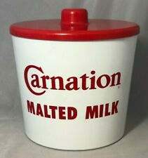 CARNATION MALTED MILK Soda Fountain CONTAINER Advertising VINTAGE
