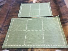 Oriental Weavers Checked Flatweave Anti Slip door Mat 1 X 60x40cm & 1 X 50x80cm