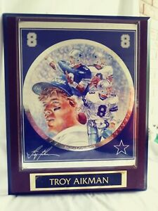 Troy AIKMAN Plaque, NFL Superstar Collectors Ed.-Sports Impressions #3944,'94,