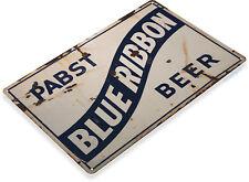 Tin Sign Pabst Blue Ribbon Beer Metal Art Store Pub Draft Brew Shop Bar A549