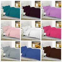 Luxury Cotton Rich Non Iron Percale-Duvet/Quilt Cover Set with Pillow case