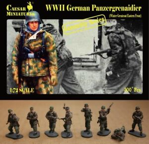Caesar Miniatures 1/72 WWII German Panzergrenaidier (Winter Greatcoat Eastern Fr