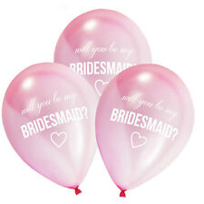 Will You Be My Bridesmaid Balloons  pack of 8