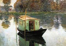 Dream-art Oil painting art Claude Monet - The Studio Boat on the lake landscape