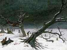 Friedrich Caspar David Winter Landscape 1811 2 A4 Print