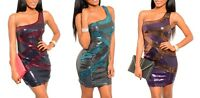 New Lot Sequin Mini Dress Red Blue Gold Silver Purple Sequinsed RAVE S M L