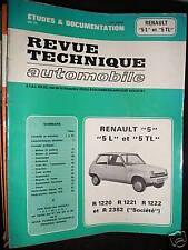 Renault 5 L TL R dont Société : revue tech RTA 3183