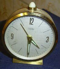 Réveil de voyage réveil Uwestra Horloge Antique Clock or collectionneur rar RARE