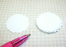 "Miniature Round Doilies, Set of 10-1 1/8"" for DOLLHOUSE Miniatures 1/12 Scale"