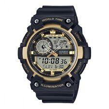 Casio Men's Alarm Stopwatch LED Backlight Dual World Time Watch AEQ-200W-9AVEF