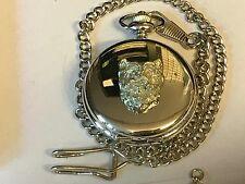 Westie's Head TG26 Pewter on a Silver Pocket Watch Quartz fob