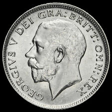 More details for 1917 george v silver sixpence, rare, a/unc