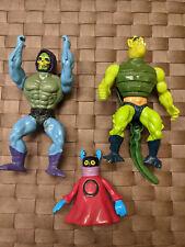 He Man Master of the Universe action figures vintage lot; Skelator, Orko & Whipl