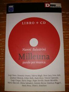 NANNI BALESTRINI RARO LIBRO + CD anno 2007 FRESU STRATOS CAPOSSELA SERVILLO LACY