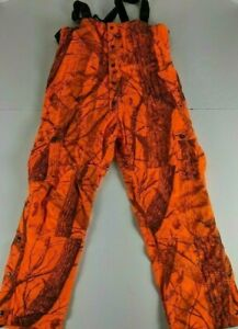 Herter's Safety Orange Bib Hunting Overalls Insulated XXL Insulated Real Tree