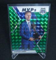 2020 Panini Mosaic Basketball Stephen Curry Green Mosaic Prizm MVP