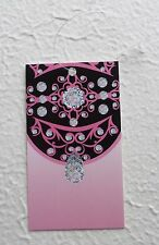 100 HANG TAGS RETAIL TAGS CUTE DIAMONDS ON PINK TAGS PRICE TAGS W/ PLASTIC LOOPS