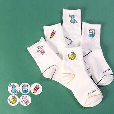 Women Milk Banana Dinosaur Pencil Cartoon Socks Novelty Illustration Cotton Sock